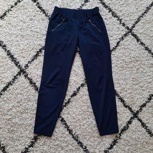 Athleta Aspire navy blue ankle jogger pants